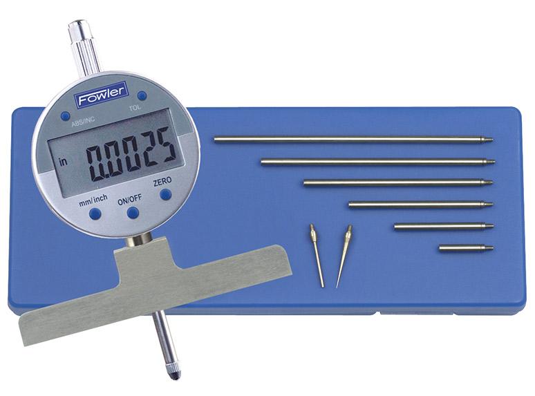 Fowler Dial Indicator Digital : Fowler depth e electronic gage