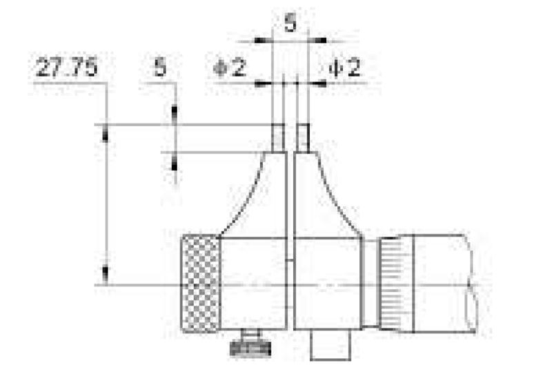 "Fowler 0.2-1.2"" Electronic IP54 Inside Micrometer"