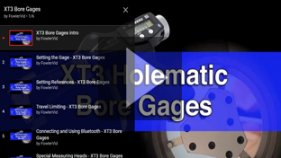 Fowler XT3 Holematic Bore Gage Intro and Tutorials